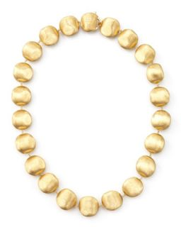 Africa Gold Medium Bead Necklace, 17L   Marco Bicego   Gold
