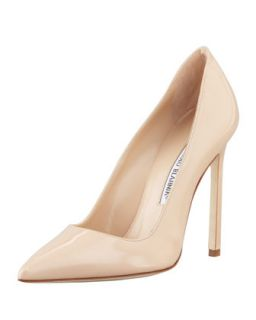 BB Patent 115mm Pump, Nude (Made to Order)   Manolo Blahnik   Nude (39.0B/9.0B)