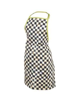 Courtly Check Apron   MacKenzie Childs   Black checks