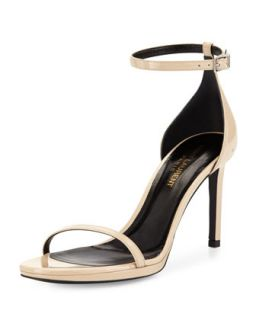 Jane Calfskin Sandal, Nude   Saint Laurent   Light nude (11 1/2B)