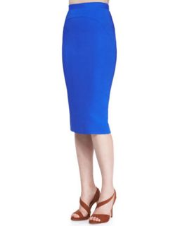 Womens Bright Cady Arch Seam Pencil Skirt   No.21   Royal blue (40/4)