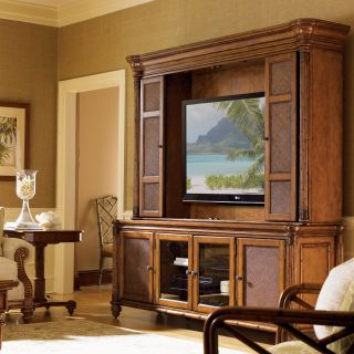 Tommy Bahama by Lexington Home Brands Island Estate Blake Island Entertainment Console with Optional Hutch   Entertainment Centers