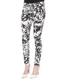 Womens Blake Geo Print Denim Pants   IRO   White/Black (28)