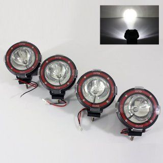 "4 x 6000K White Built in 35W HID Kit 4"" SUV/ATV/Truck/Pickup/4x4 Jeep Off Road Lights Fog Lamps: Automotive"