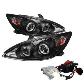 High Performance Xenon HID Toyota Camry Halo Projector Headlights with Premium Ballast   Black with 10000K Deep Blue HID: Automotive
