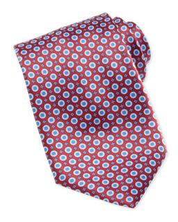 Mens Circle Medallion Silk Tie, Red/Blue   Stefano Ricci   Red/Blue