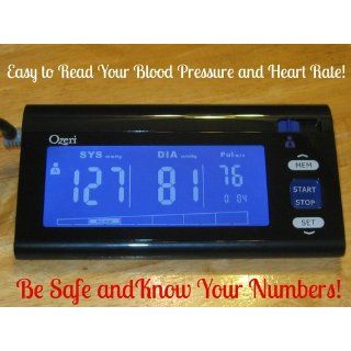 Ozeri CardioTech BP3T Upper Arm Blood Pressure Monitor With Intelligent Hypertension Detection, Black: Health & Personal Care