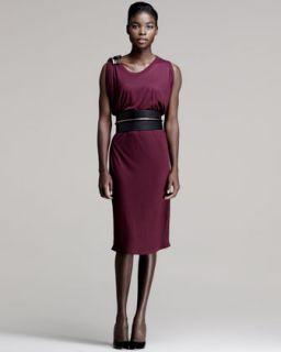 Womens Bead Shoulder Dress   Lanvin   Plum color (MEDIUM)