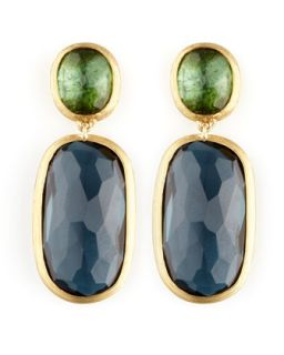 Murano 18k Two Stone Drop Earrings   Marco Bicego   (18k )