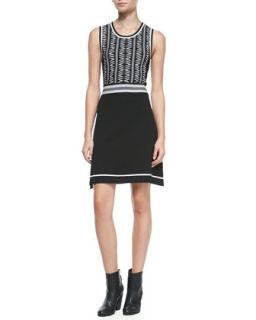 Womens Erin Sleeveless Two Tone Dress   Rag & Bone   Black (MEDIUM)