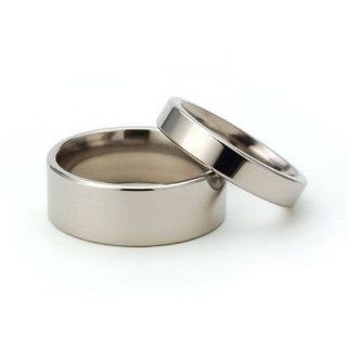 Titanium Rings For Him And Her, Matching Wedding Rings, Titanium Bands: Men Women Rings: Jewelry
