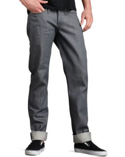 Mens WeirdGuy Gray Selvedge Jeans   Naked and Famous Denim   Grey (36/52)