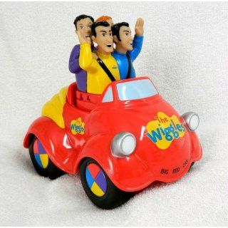 The Wiggles Push Top Wiggle and GIggle Musical Singing Big Red Car Toot Toot Chugga Chugga: Toys & Games