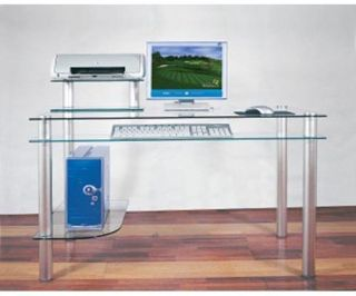 Madison Clear Glass Computer Desk   Desks