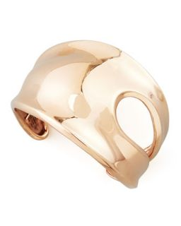Cutout Rose Gold Cuff Bracelet   Robert Lee Morris   Rose gold