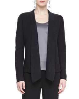 Mosaic Shaped Open Jacket, Womens   Eileen Fisher   Charcoal (3X (22/24))