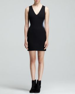 Womens Cara Two Tone Illusion Dress   Rag & Bone   Black (8)