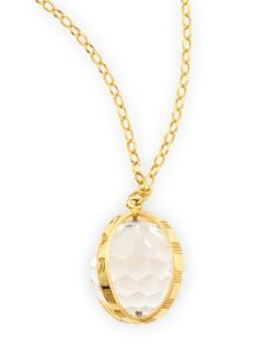 Extra Large 18k Gold Carpe Diem Pendant Necklace, 30L   Monica Rich Kosann