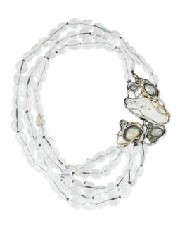 Jardin Mystere Clear Crystal Doublet Draped Necklace   Alexis Bittar   Clear