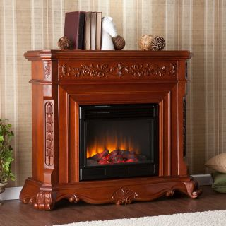 Helios Electric Fireplace   Classic Mahogany   Electric Fireplaces