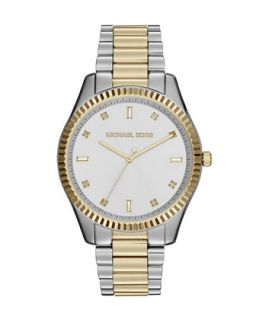 Two Tone Stainless Steel Blake Three Hand Glitz Watch   Michael Kors   Gold