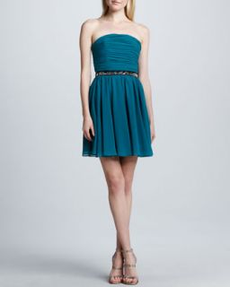 Womens Strapless Fit and Flare Dress   Erin by Erin Fetherston   Harbor blue