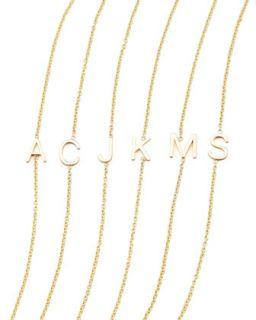 14k Yellow Gold Letter Bracelet   Maya Brenner Designs   B (14k )