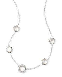 Stella Necklace in Mother of Pearl Doublet & Diamonds 16 18   Ippolita   Gray