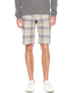 Mens Plaid Chino Shorts   Michael Kors   Chino (38)