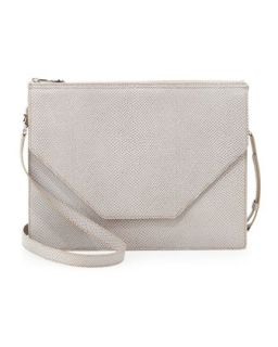 Kirsten Pebble Leather Shoulder Bag, Ash   Eric Javits