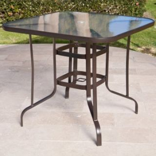 Coral Coast Del Rey Balcony Height Outdoor Dining Table   Patio Tables