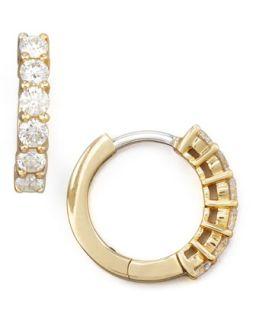 13mm Yellow Gold Diamond Hoop Earrings, 0.7ct   Roberto Coin   Yellow (13mm ,