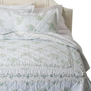 Simply Shabby Chic Wallpaper Ikat Quilt   Blue (Queen)