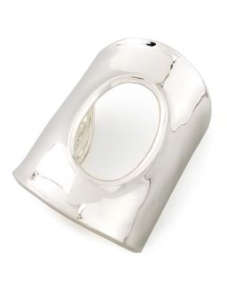 Oval Cutout Large Silver Cuff Bracelet   Robert Lee Morris   Silver (LARGE )