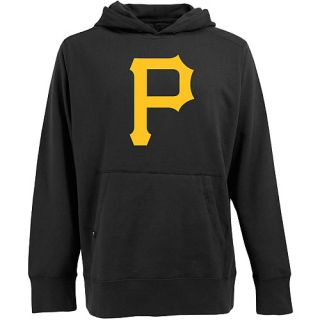 Antigua Mens Pittsburgh Pirates Signature Hood Applique Pullover Sweatshirt