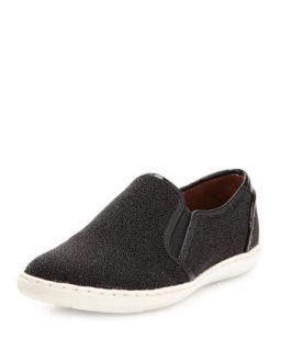Maya Beaded Slip On Sneaker, Black   Donald J Pliner   Black (35.0B/5.0B)