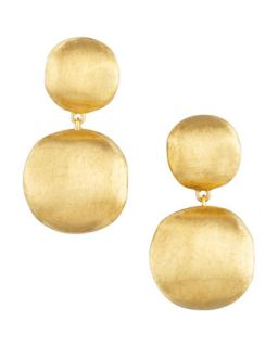 Africa Yellow Gold Two Drop Earrings   Marco Bicego   Yellow