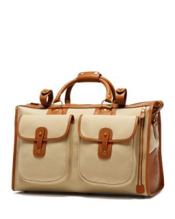 Express Mens Twill Weekender Bag, Khaki/Nut   Ghurka   Khaki/Chestnut