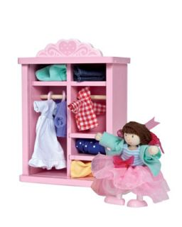 Dress Up Doll & Wardrobe Set   Le Toy Van   No color
