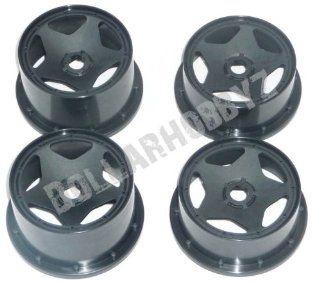 HPI Baja 5b SS *BLACK WHEELS* Rims Tires Beadlocks Toys & Games