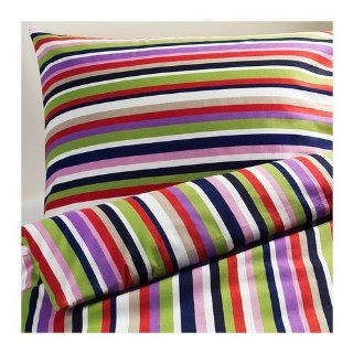 Ikea DVALA RANDIG 3pc Queen Duvet Cover 100 Percent Cotton   Duvet Cover Sets