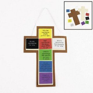 Colors Of Faith Cross Craft Kit   Vacation Bible School & Crafts for Kids: Toys & Games