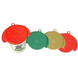 Kollercraft Pet Products Dog Food Can Cover Assorted Colors 3 Pack  Pet Food Storage Products