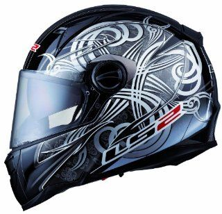 LS2 Helmets FF396 FT2 Full Face Motorcycle Helmet with Wolf Graphic (Gray, X Small): Automotive