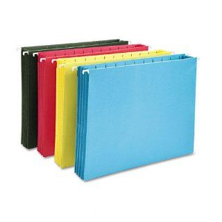 Smead Products   Smead   Hanging Pocket File Folders w/Full Height Gusset, Letter, Assorted, 4/Pack   Sold As 1 Pack   Ideal for storing large amounts of paperwork.   Full height side gussets keep pocket from catching on drawer rails.   Protects documents