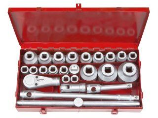 TEKTON 1118 3/4 Inch and 1 Inch Drive Jumbo Socket Set, SAE, 26 Piece