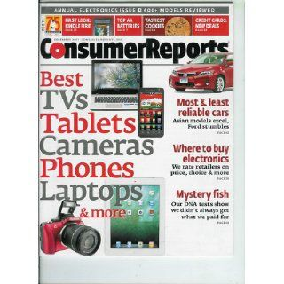 Consumer Reports December 2011, Volume 76, No. 12 Most & Least Reliable Cars // Best TVs, Tablets, Cameras, Laptops, Phones & More: Consumer Reports: Books
