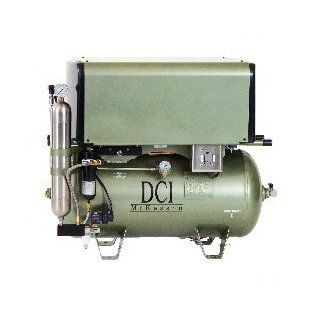 DC Series Deluxe Oil Less Air Compressor 10 User/ 3 HP / Triple Head/ 30 Gallon Tank/ 230 Vac: Industrial & Scientific
