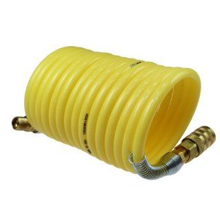 Coilhose Pneumatics 15X N14 12A Nylon Coiled Air Hose, 1/4 Inch ID, 12 Foot Length, One End 1/4 Inch Swivel Fitting, Other End 1/4 Inch Rigid Fitting, Includes Industrial Interchange Coupler, 1/4 Inch NPT, Female: Air Tool Hoses: Industrial & Scientifi