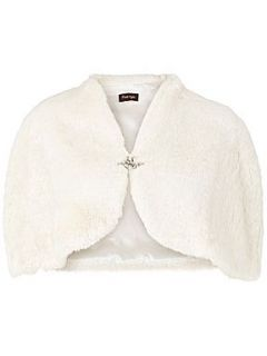 Phase Eight Elena faux fur cape Ivory